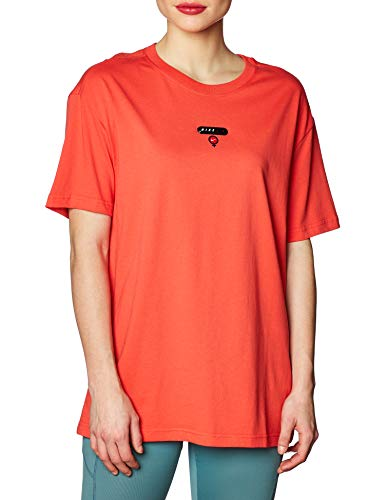 NIKE CU0428-631 T-Shirt, Track Red, M Womens