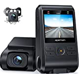 APEMAN Dual Dash Cam C550, 1080P Front and Rear Hidden Car Driving Recorder, IPS Screen, Night Vision, 170° Wide Angle, WDR, G-Sensor, Parking Monitor, Motion Detection, Loop Recording, Support GPS