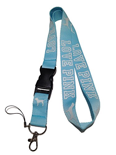Love Pink Lanyard Blue & White Neck Strap Keychain ID Holder Keyring for Keys Phones Bags from SprayWayCustoms Store