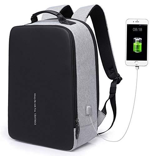 UBaymax Anti-diebstahl Laptop Rucksack mit USB Ladeanschluss, 15,6 Zoll Wasserdicht Canvas Schulrucksack...