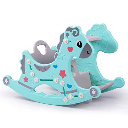 Sale!! ZJING Beautiful Kaohsiung Baby Rocking Chair Thick Plastic 1-2 Years Old Gift Dual-Purpose Tr...