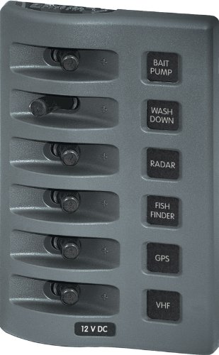 Blue Sea Systems WeatherDeck 12V DC Waterproof Switch Panel - 6 Position