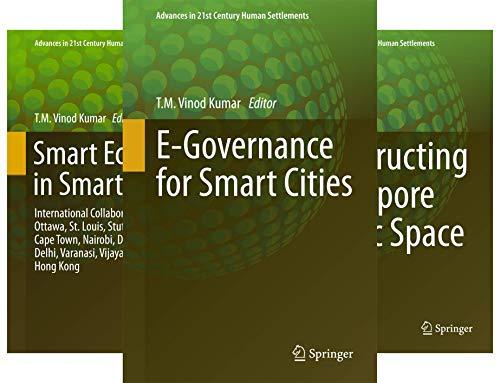 Advances in 21st Century Human Settlements (21 Book Series)