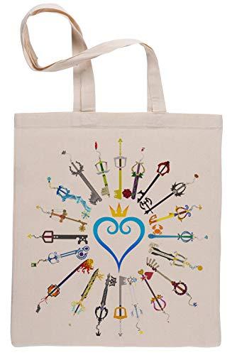 Llaves espada Beige Reutilizable Bolsa De Compras Reusable Beige Shopping Bag
