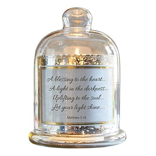 CB Gift Heartfeel Collection - Portavelas de cristal de mercurio, 14 x 18 cm, diseño de cúpula
