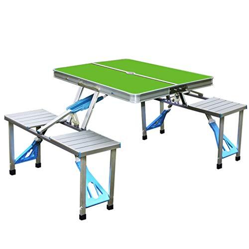 LiuJianQin ZDZ Table Pliante/Table Pliante extérieure portative/Tables et chaises siamoises/Table Pliante en Alliage d'aluminium (Couleur : 1#)