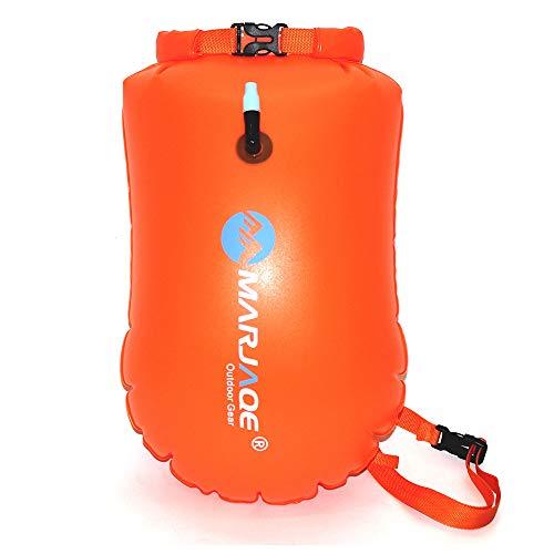SZDAJAN Bolsa seca para flotar, impermeable, 28 l, para natación, natación, agua, abierta, bolsa seca de alta visibilidad, bolsa inflable segura para natación, kayak, barco (naranja)