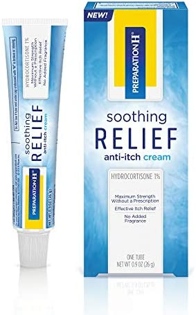 Preparation H Soothing Relief Anti Itch Cream 1 Tube 0 9 Ounces Cream with Hydrocortisone for product image