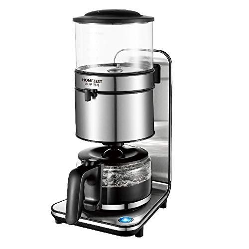 Cafetière en acier inoxydable avec filtre permanent, verseuse à café avec grande capacité pour 1 à 15 tasses, machine à café avec interrupteur à LED, fonction anti-déversement