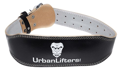 High Quality and Durability - Made of Cowhide Leather, 4 rows of stitching, white leather lining and a thick prong brass buckle, this belt is extremely durable and long lasting. Athletic Design - The durable but soft feeling leather allows for a cont...