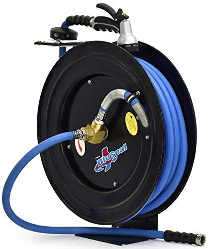 BluBird RMX BluSeal Retractable Water Hose Reel w/ Hot Water Rubber Hose 5/8