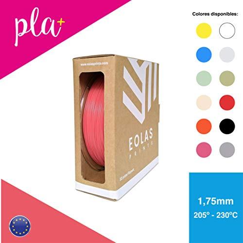 EOLAS Filament aus PLA+ 1,75 mm Rolle für 3D Drucker oder Stift Made in Europe, Food safe, Toys safe Certified (Koralle 1 kg)