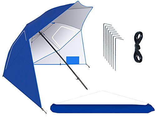 MT MALATEC Sonnenschirm-Muschel Strandschirm Windschutz 230cm Sonnenschutz 10066