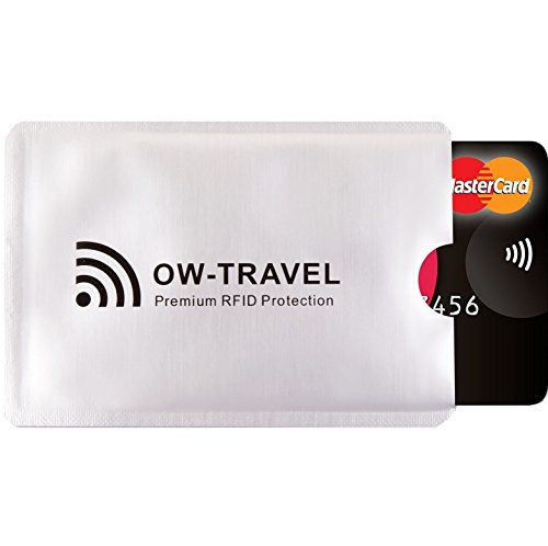 RFID Card Protector Sleeves (1 Pack) OW-Travel Contactless...