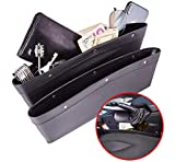 Matuku Car Console Organizer Gap Filler - Seat Gap Filler Car Seat Gap Organizer, Car Accessories Interior with Premium PU Leather, Car Pocket Organizer - Set of 2 for Phone Money Cards Keys Remote