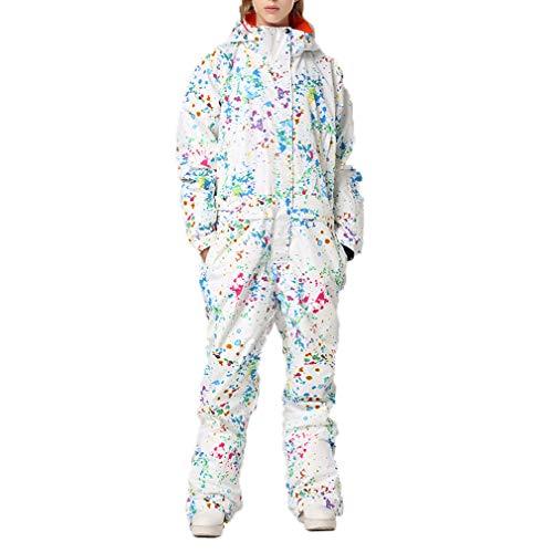 dameskleding, winter, sneeuw, skipak, tuinbroek, geïsoleerd, skipak, onesie, winddicht, waterdicht.