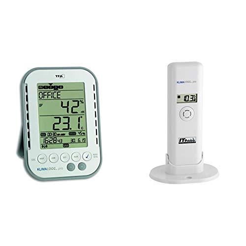 TFA Dostmann Klimalogg Pro Profi-Thermo-Hygrometer, 30.3039, mit Datenlogger-Funktion & Temperatur Sender für Klimalogg Pro Kat.-Nr. 30.3181.IT