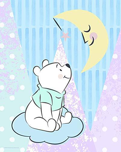 Komar Disney Wandbild Winnie Pooh Moon | Kinderzimmer, Babyzimmer, Dekoration, Kunstdruck | ohne Rahmen | WB087-40x50 | Größe: 40 x 50 cm (Breite x Höhe)