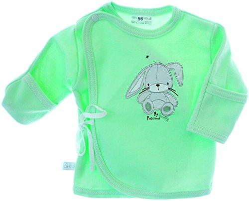 KRATZSCHUTZ Wickelhemdchen Ertslingsshirt Flügelhemdchen Baby Shirt Wickelshirt (56)