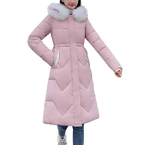Fantastic Deal! SFE Women Down Jacket with Fur Trim Hood Winter Zip up Thickened Soft Coats The Ligh...