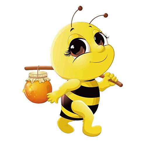 GQQ auto sticker 15.1Cm * 19.8Cm bijen met honing Pvc auto Stickers auto's, motorfietsen, bagage, raam, toilet, meubels decoratie A