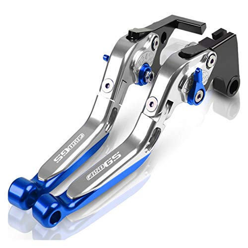 Embrague Palancas para BMW F650 GS F650GS Accesorios De Motocicleta Freno Mano Palanca De Embrague Freno Giratorio Ajustable Cubrepuños Pit Bike (Color : N)