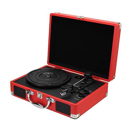 Zyy Retro platenspeler met drie snelheden, met geïntegreerde stereo-luidsprekers, compatibel met USB-/RCA-uitgang, aansluiting voor hoofdtelefoon, MP3-speler, mobiele telefoons, muziekweergave, Netto
