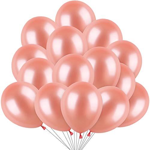 Luftballons Rosegold, 100 Stücke Rosegold Ballon, Luftballons Rose Gold, Ballons Rosegold Helium für Hochzeit Valentinstag Mädchen Kinder Geburtstag Taufe Kommunion JGA Party Deko