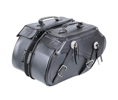 Seitliche Taschen Satteltasche Concho Motorrad Honda Yamaha Suzuki Kawasaki Guzzi Ducati Sportster XL 883 1200 Custom Bobber Chopper Iron Nightster Roadster Rod Forty Eight 48 1200 x Seventy Two 72