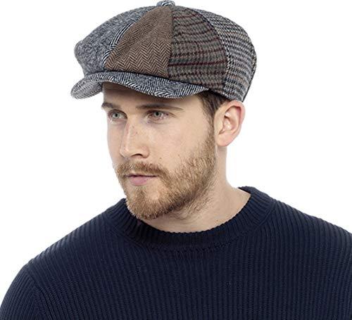 Tom Franks Mens Wool Blend Patchwork Baker Boy Hat (L/XL) (Multicoloured)