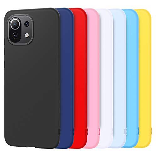 Rosyheart 8X Hülle für Xiaomi Mi 11 Lite 5G, Weiche Silikon Schutzhülle Handyhülle für Mi 11 Lite, Ultra Dünn TPU Gel Abdeckung Softschale Kratzfest Stoßfest Handy Tasche Hülle Cover - 8 Farbe