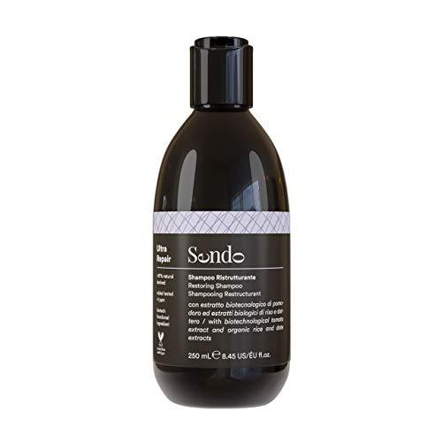 Sendo Champú Reestructurante para el Cabello, Ultra Repair Shampoo, Restoring, Tratamiento Cabello Dañado, 250 Ml, Extracto Biotecnológico de Tomate, Extracto de Arroz, Extracto de Dátil 250 ml