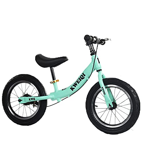 YMDA Balance Bike with Brake and Adjustable Seat, 16-Inch Padded Seat and Rubber Handle, Lightweight Frame For Easy Riding