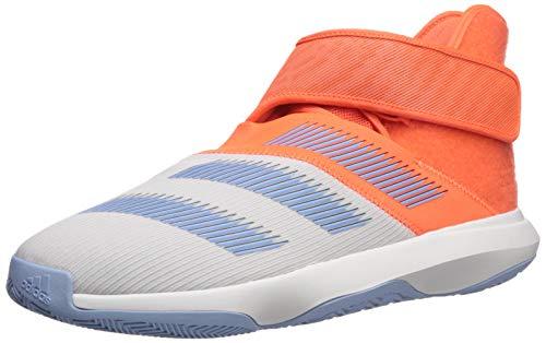 adidas Herren Harden B/E 3 Basketballschuh, Weiß/Hi-Res Coral/Glow Blue, 43 1/3 EU