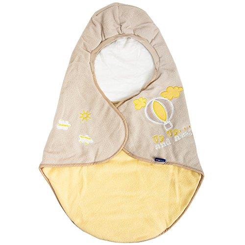 Lupilu Babyfußsack Baby Fußsack Winterfußsack Kuschelsack Babydecke Kinderwagen waschbar gut gefüttert gelb