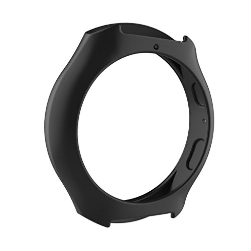 Black Smart Wristband Watch Silicone Case Cover Sleeve Protector for Samsung Gear S2 R720 R730