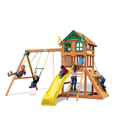 Gorilla Playsets 01-1063-Y Outing Wood Swing Set with Wood...