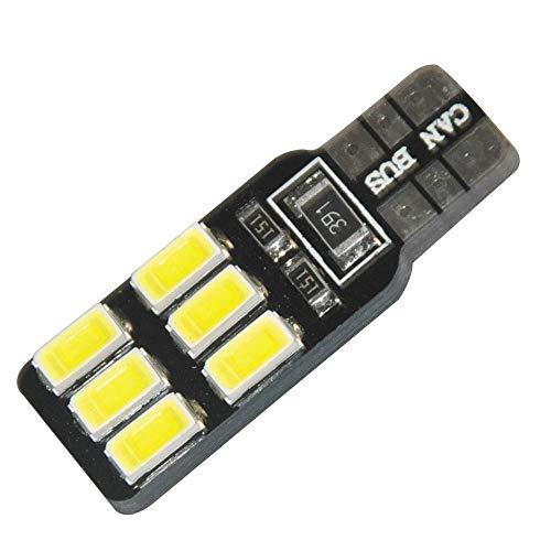 Bombilla LED 10 Unids T10 Canbus llevó la bombilla 194 168 W5W 2.6W 5630 5730 6LED SMD lado del coche bombilla de luz de la cuña libre de error Auto luz de liquidación del coche para la calle, garaje,
