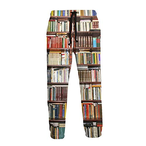 Lewiuzr Pantalones Deportivos para Hombre con estantería pa