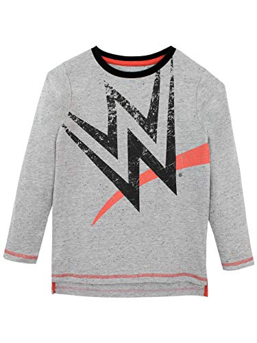 WWE Camiseta de Manga Larga para niños World Wrestling Entertainment Gris 12-13 Años