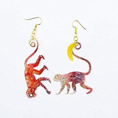 Banana - Boucles d'oreilles Monkeys Old World - Bijoux singe - Monkey bijoux - Cadeaux pour elle - Boucles d'oreilles singe - Boucles d'oreilles Simians - Bijoux singe
