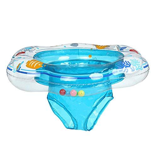 YUY Anillo De Natación Inflable para Bebés Asiento De Bote Flotante para Piscina Inflable para Bebés Adecuado para El Entrenamiento De Niños Pequeños para Bebés De 6 Meses A 3 Años,Blue
