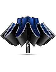 TSUNEO 【傘専門 逆折り式 10本骨】 折りたたみ傘 自動開閉 軽量 メンズ レディース 折り畳み傘 軽量 晴雨兼用 超撥水 梅雨対策 臺風対応 高強度グラスファイバー 収納ポーチ付き