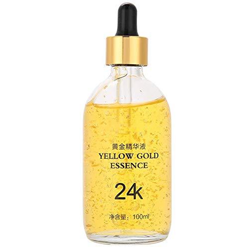 Siero di peptidi per viso, 24K Gold Acido Ialuronico Siero concentrato Sei peptidi Crema idratante Viso Sbiancante Rassodante Lifting Cura della pelle(100ml)