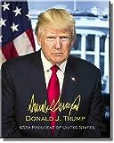 Offizielles Donald Trump Portrait mit Signatur-Bild auf