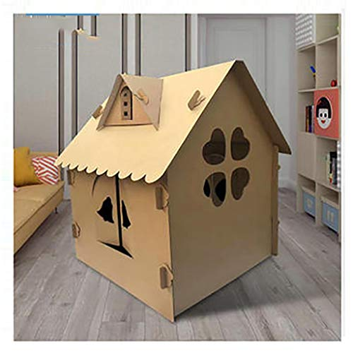 CREAT De los niños DIV Playhouse, Pintada Reutilizable Plegable Corrugado Toy Habitaciones for la Escuela Reunión de la Familia Parques Socio Play House 75x75x98cm