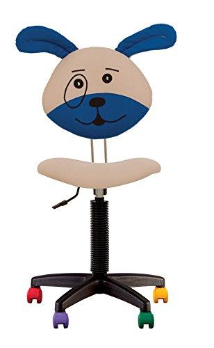 Kinderdrehstuhl, ergonomisch, Höhe der Rückenlehne verstellbar, Sitztiefe verstellbar, mit Rollen, mehrfarbig