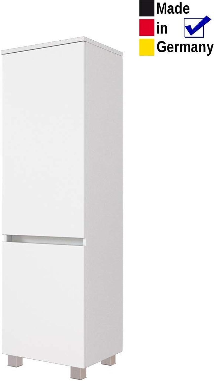 Expendio Midischrank Britt 4 wei 40x130x35 cm Seitenschrank Badschrank Schrank Badmbel Badezimmer