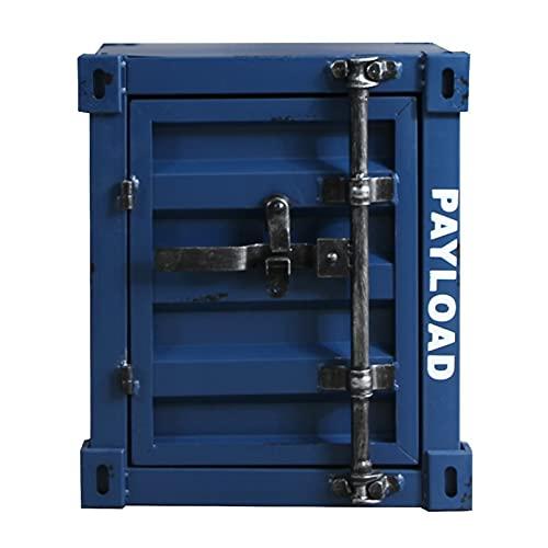 yxx Cabinas de contenedores Mesa Auxiliar, Armarios de Estilo Industrial Armarios de Hierro Forjado, armarios de cabecera creativos con cerraduras, Mesa de Almacenamiento pequeño (Color : G)