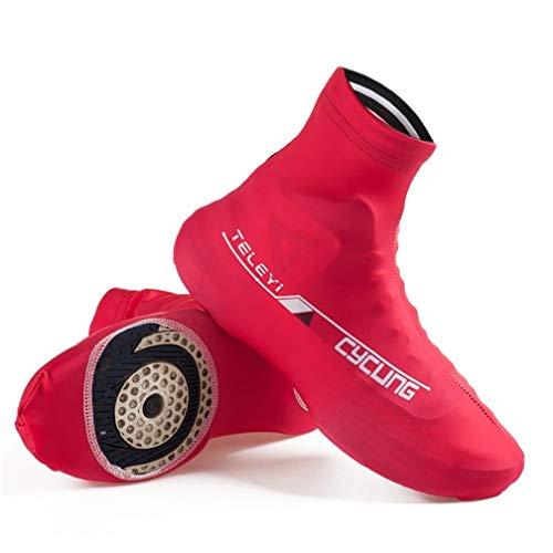 SXFHS Cubiertas para zapatos de ciclismo para bicicleta, botas reflectantes, impermeables, resistentes al viento, para hombres y mujeres, bicicleta de carretera, A, M